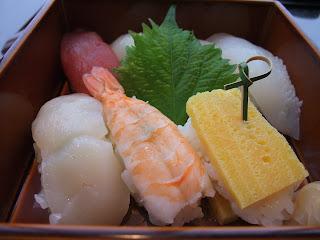 京都駅の伊勢丹の加賀屋のお寿司