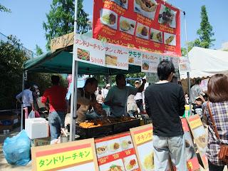 帝塚山音楽祭の食べ物屋台