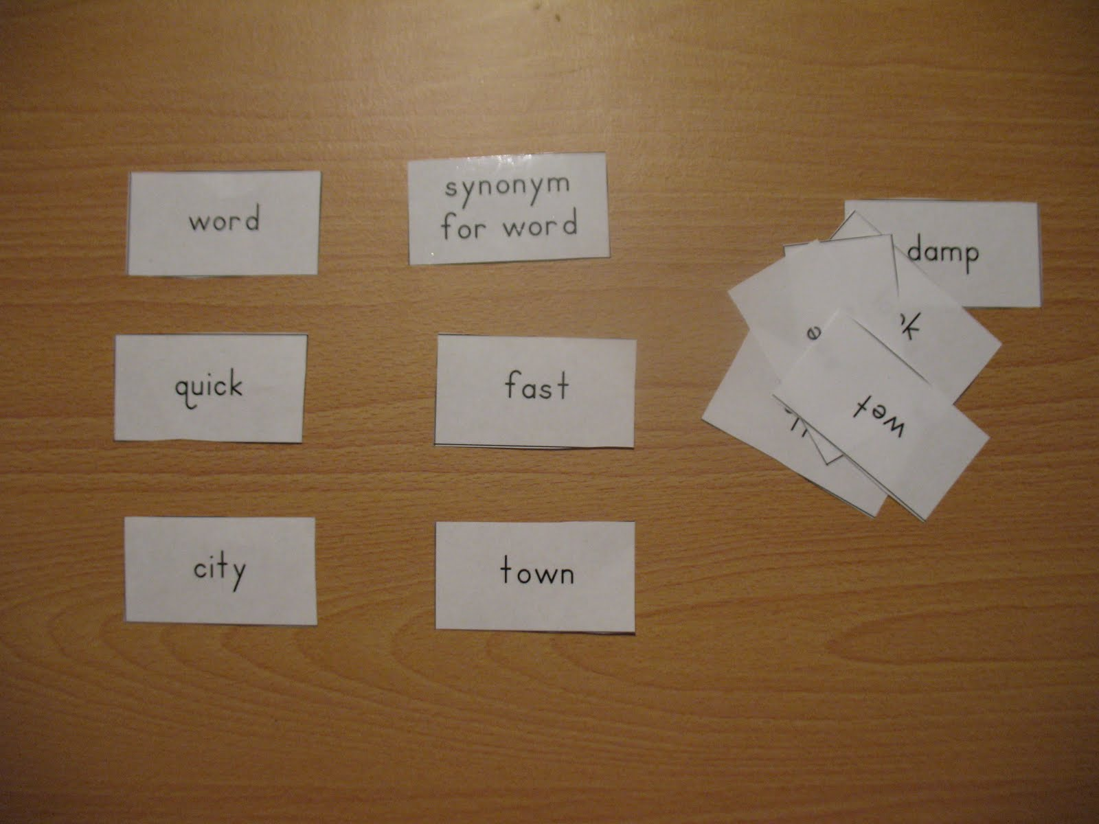 Worksheet Synonyms Of Anatomy montessori for learning synonym fun i first introduce synonyms by using materials they are pictured below we place the heading cards at top of workspace and then separate