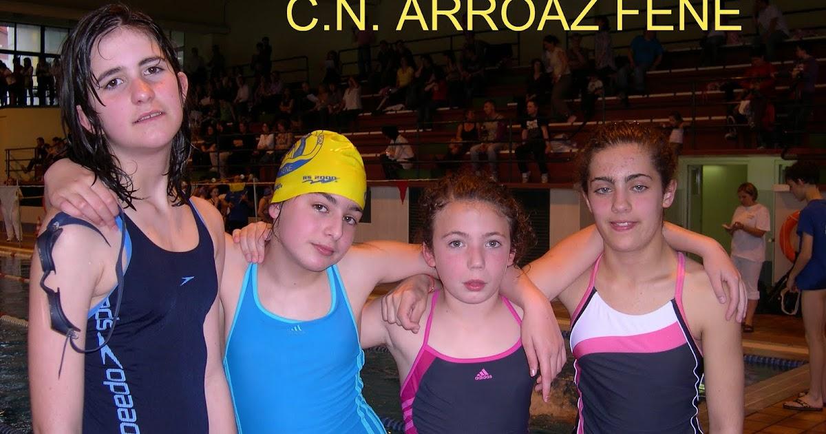 Club nataci n arroaz fene 4 jornada liga alev n for Piscina de naron