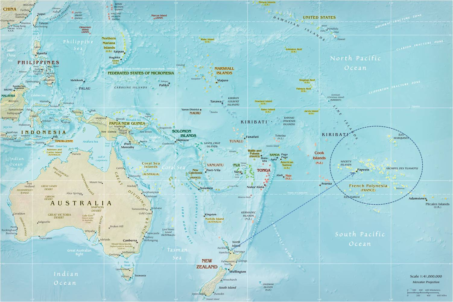 Map Of Cook Islands In The World