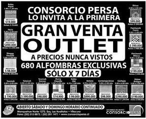 Outlet santiago primer outlet consorcio persa for Alfombras persas outlet