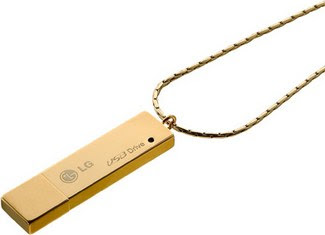 LG Golden USB flash drive
