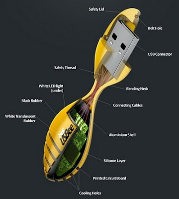USBee Flexible USB flash drive