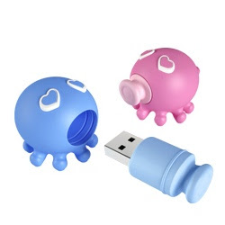 Kissing Octopus Cool USB memory storage