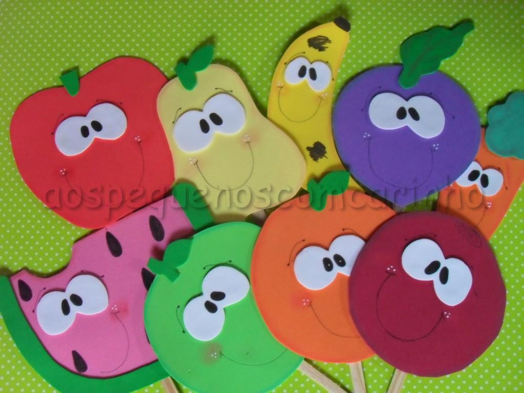 Moldes de frutinhas em e.v.a
