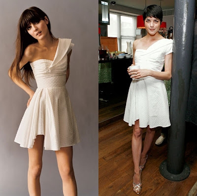 Shoulder White Dress on Obscura  1 Cent  Kate Moss Topshop White One Shoulder Dress Size 2 Xs