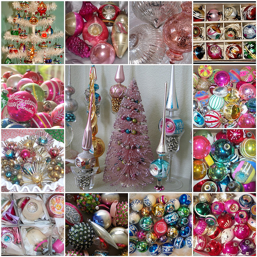 Deck the holiday 39 s vintage christmas decorations for Decoration retro