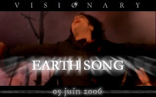 Michael Jackson, singing Earth Song from his HIStory Album.