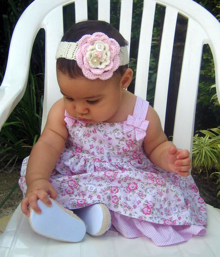 Crochet Headband Pattern For Baby With Flower : Adri Makes a Thing or Two: Quick Gifts 3: Crochet Baby ...