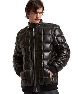 Rock & Republic Leather Puffer Jacket