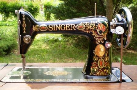DragonPoodle Studio 40 Singer Red Eye Treadle Enchanting Red Eye Singer Sewing Machine