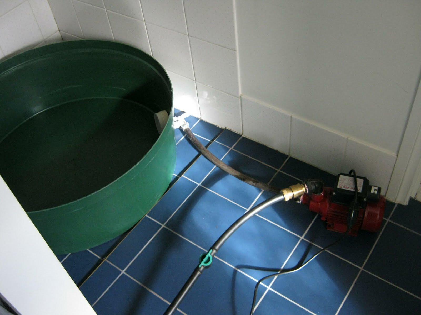 DIY greywater: DIY shower greywater