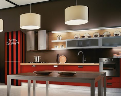 red+kitchen