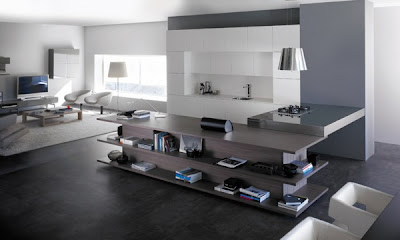 integrated+living+room+and+kitchen+design