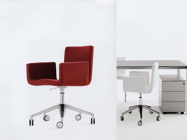 Interior design minimalist office furniture with white for Italian office furniture