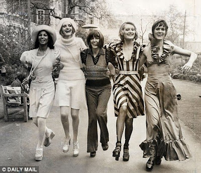 Below is a photo from Mary Quant autumn fashion show in the sixties.
