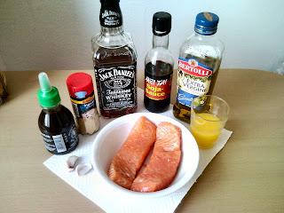 Glazovaný losos s omáčkou z whisky