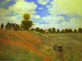 Les Coquelicots (Las Amapolas) - Claude Monet