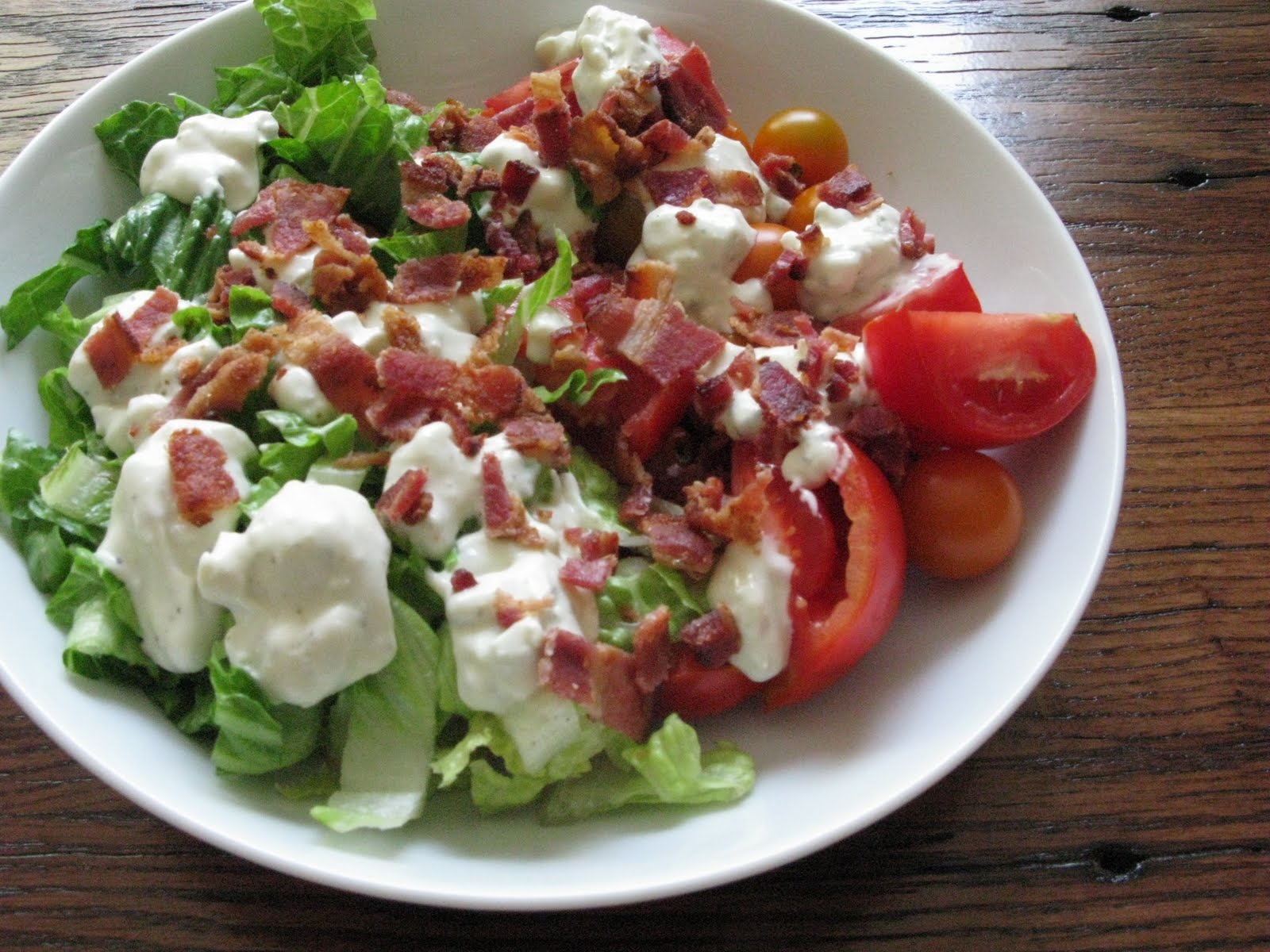 The Dirty Radish: Recipe: BLT Salad with Homemade Blue Cheese Dressing