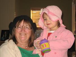 Grandma Linda and Savannah...it's a hat day