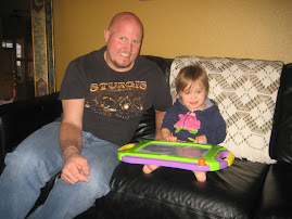 Uncle Brad drawing with Savannah
