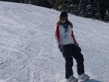 Stacy having fun on the slopes - makes it look quite easy
