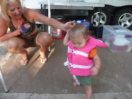 Her own life jacket (with Aunt Joan)