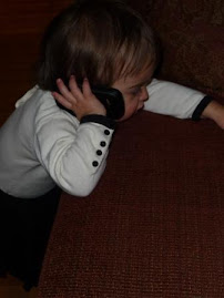 On the phone with Grandma Linda