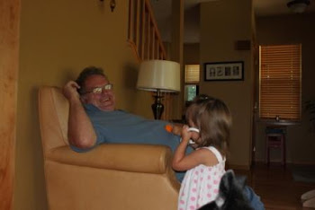 Listening to grandpa's heartbeat (or stomach...)