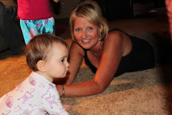 Having fun on the floor with Aunt Joan
