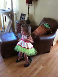 Savannah getting her groove on!