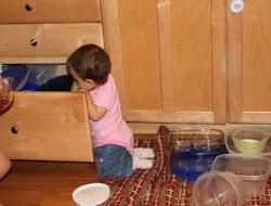 Sophia doing her favorite thing ever!