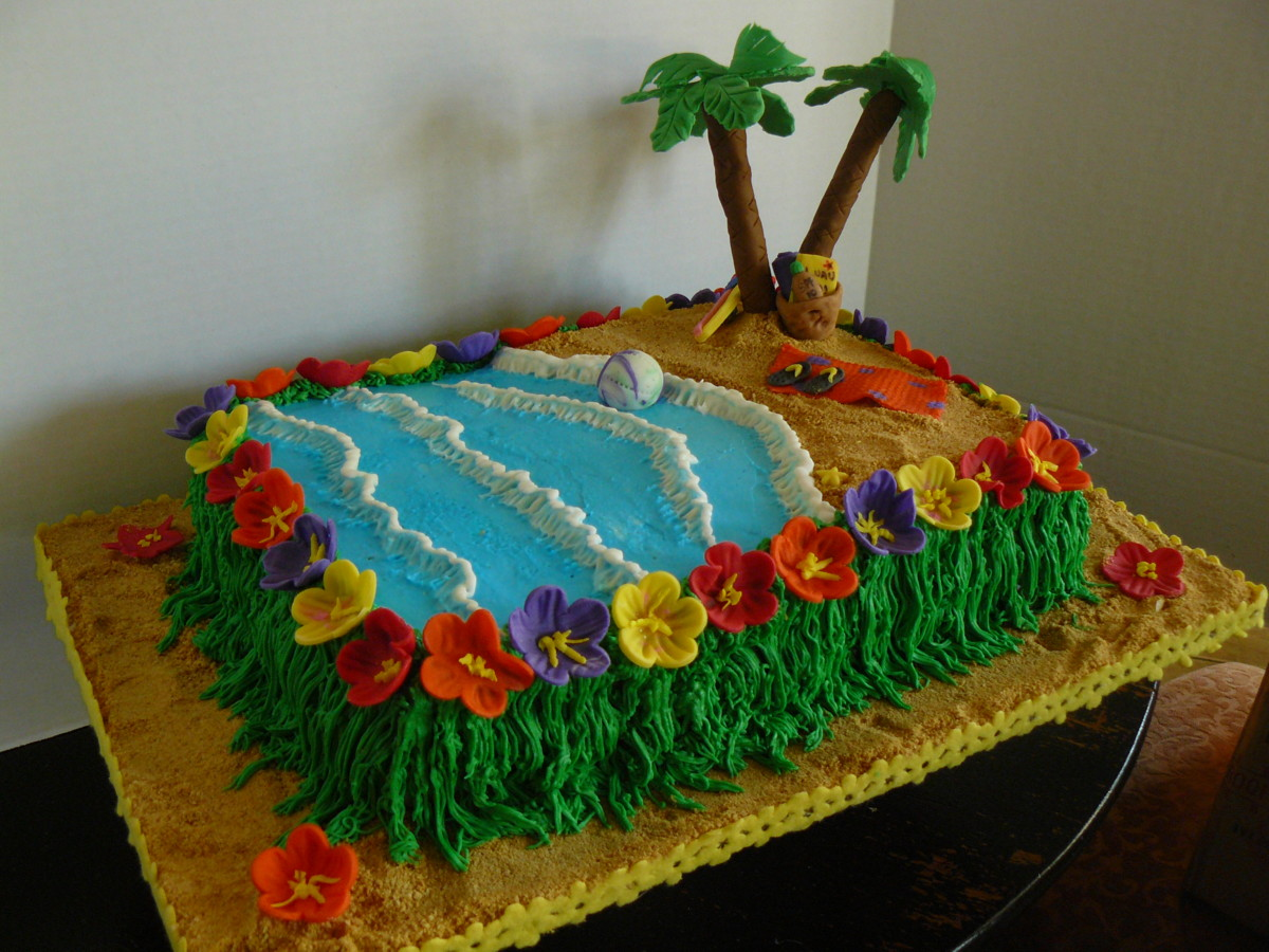 The Woodlands Cake Boutique: Luau Themed end of year party!