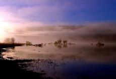 Esako urtegia goizaldean / Pantano de Yesa al amanecer