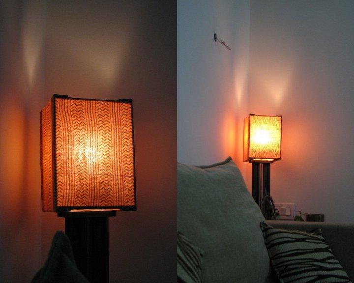 Lamp shade an old kurta put to good use indian for Diy wall lamp shade
