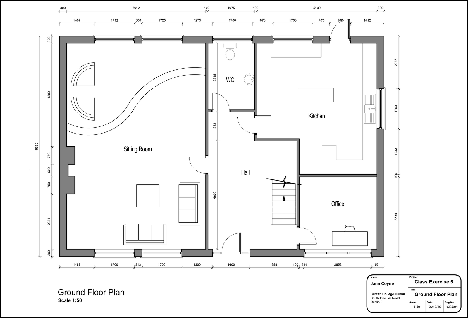 Jane coyne design cad 2d for Cad floor plans