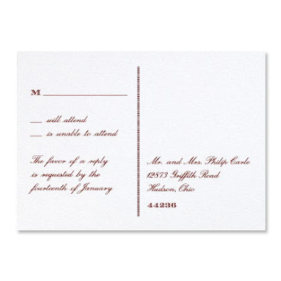 Exclusive Martha Stewart Wedding Invitation Design