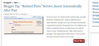 """rm1 Blogger Tip: """"Read More"""" Hack, Automatic Summary and Thumbnail Script"""