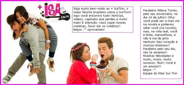 + Isa Tkm | O maior fansite brasileiro da Isa Tkm