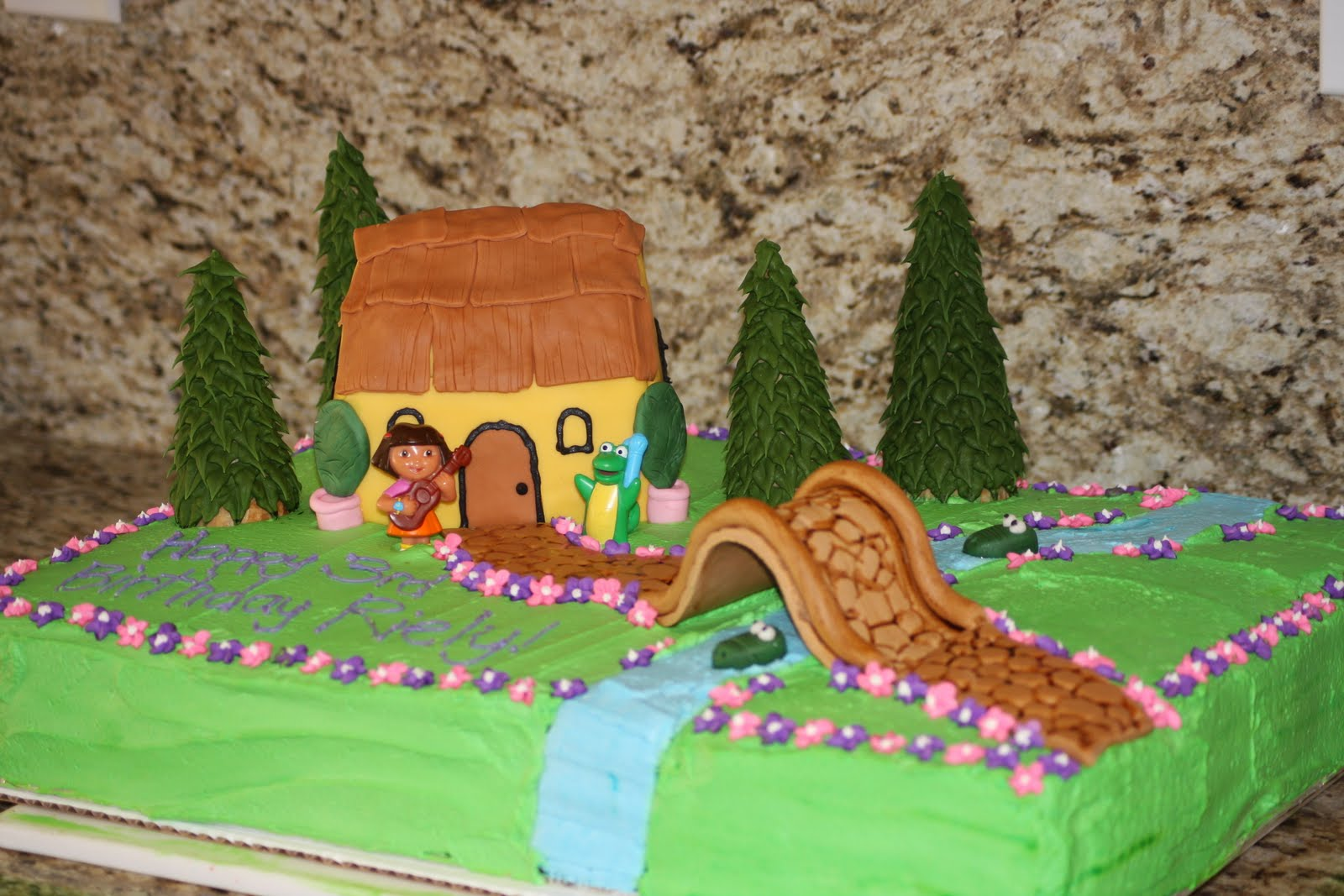 Cake Designs Dora The Explorer : Dora The Explorer Birthday Cake Dora The Explorer ...