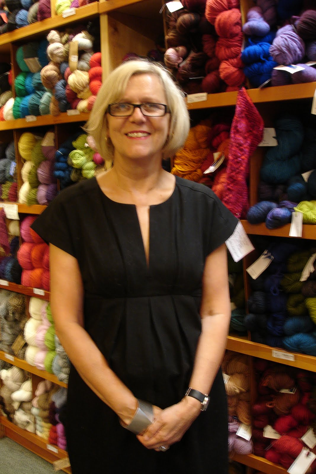 the flitter knitter i met debbie bliss