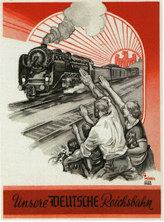 Carteles de propaganda de la II Guerra Mundial Reichsbahn
