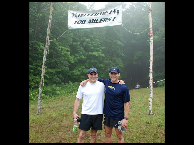 My brother and me @ 20th VT 100 Finish