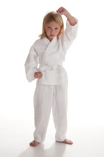 Karate Girl High Block