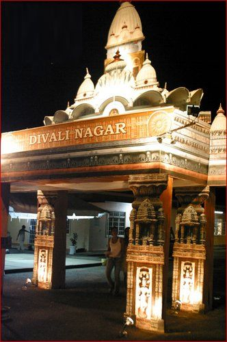 """The Divali Nagar or Divali County"" in CHAGUANAS, Trinidad and Tobago."