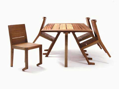 Table and chair furniture designed by Paul Galli2