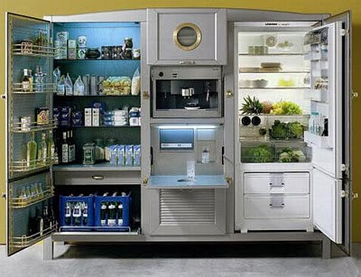 Antique Meneghini Refrigerators and Freezers, Modern Design Style
