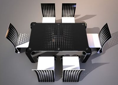 Ergonomic Push Table Dining Set Furniture Design