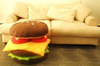 Fun and Colourful Hamburger Scatter Cushions
